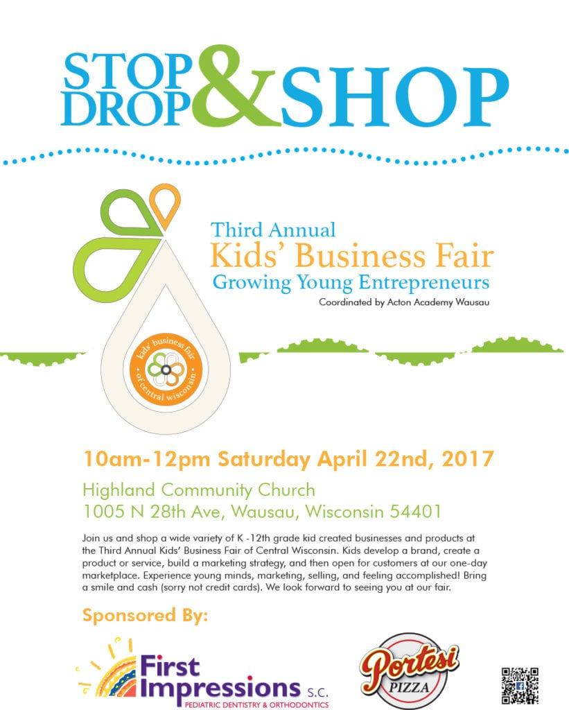 Kids' Business Fair Acton Academy Wausau