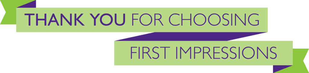 First impressions Thank You Banner AD